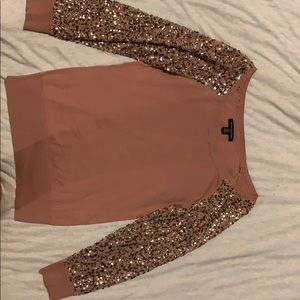 Light sparkle sleeve sweater